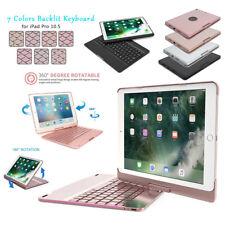 iPad Pro 10.5 Keyboard Case with Backlit Auto Sleep/Wake 360 Rotation Folio Case