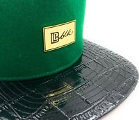 "B L K Headwear EX ""GG"" Snapback (Forest Green/Alligator)"