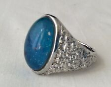 Vintage Original 60's to 80's Silver Tone Repousse  Size 10 Mood Ring