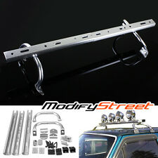 "44""-60"" ADJUSTABLE OFF ROAD LIGHT/LED BAR ROOF GUTTER MOUNT RACK TRUCK/JEEP/SUV"