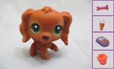 Littlest Pet Shop LPS #252 Cocker Spaniel Dog Brown Authentic +1 FREE Accessory