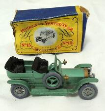 Matchbox Lesney Rolls Royce Silver Ghost Orig Box Made England No 15 Grey Wheel