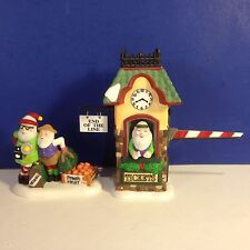 Dept 56 North Pole Village END OF THE LINE Set of 2 w/ box Combine Shipping!