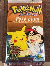 1999 POKEMON POKE gum & 1 Puzzle Card Sealed #1