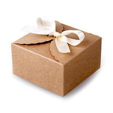 50 PCS Kraft lace gift boxes jewelry gift box gift box paper wedding Craft Candy