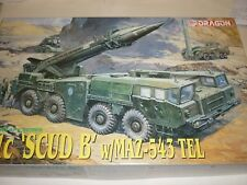Dragon un-made plastic kit of a SS-1C Scud B Rocket on a MAZ 543 Carrier