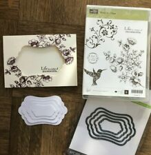 Stampin Up ELEMENTS OF STYLE cm stamps & Curvy Rectangles Labels Dies~ Roses lot