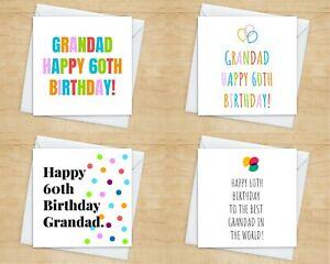 Grandad 60th Birthday Card - 10+ Styles -Grandpa Grandad Birthday Card For 60th