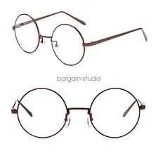 c52e78a8dea Big Round Metal Frame Glasses With Clear Lens Vintage Retro Geek Fashion  Glasses