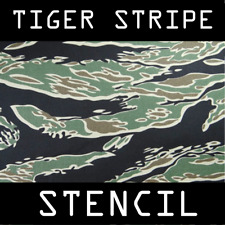 Tiger Stripe Camouflage Stencil -Reusable A4 Sheets- Tactical Military Army DIY