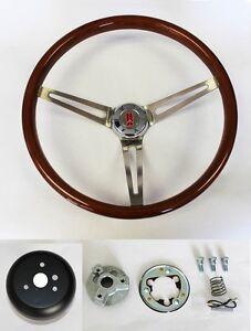 "69-93 Oldsmobile Cutlass 442 98 Wood Steering Wheel High Gloss Finish 15"""