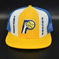 Indiana Pacers AJD Lucky Stripes NBA Vintage 80's - 90's Snapback Cap Hat