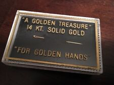 VERY RARE - Vintage SOLID 14kt Yellow GOLD SEWING NEEDLE in ORIGINAL BOX