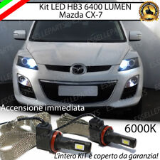 KIT FULL LED HB3 ABBAGLIANTI MAZDA CX-7 CX 7 6000K CANBUS 6400 LUMEN