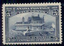 CANADA #99 5¢ dark blue, og, NH, VF, Miller certificate, Scott $625.00