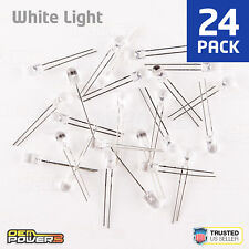 24 X RadioShack 5mm High-Brightness White LED #2760017 BULK PACK NEW