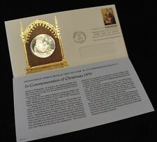 1975 U.S. Post Masters Christmas STERLING Proof Commemorative First Day Cover