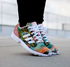 save off 5a482 f28db ADIDAS ZX FLUX B25483 WOMEN S RUNNING TRAINNING SHOES FLORAL 100% AUTHENTIC