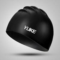 Silicone Swimming Cap Durable Waterproof Swim Hat For Adult Men Women Long Hair
