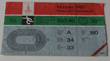 Ticket collectors Olympic Moscow 1980 Football * Czechoslovakia - Yugoslavia