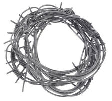 24' Fake Silver Barbed Barb Wire Halloween Decoration Wire Prop Garland