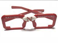 Vintage Red Nebraska Cornhuskers National Champions Glasses 'GO BIG RED'