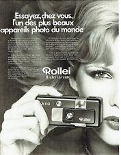 Publicité Advertising 068  1977   appareil photo Rollei A 110