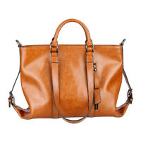Women's Stylish Handbag Lady Shoulder Bag Tote Purse Oiled Leather Messenger Bag