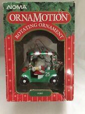 "VINTAGE CHRISTMAS NOMA ORNAMOTION - SANTA & REINDEER IN GOLF CART ""FORE"""