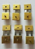 6x Assorted Brass Clock Pendulum Suspension Springs, English,German SU1
