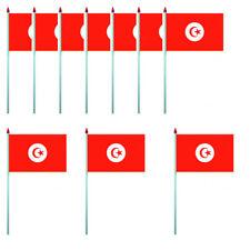 LOT DE 10 DRAPEAUX TUNISIE - PAVILLON 10 X 15 CM