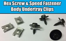 10x U Nut Hex Screw For BMW Speed Fastener Undertray Sheet Metal Clip Fixing