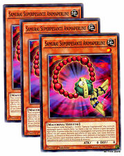 Set 3X SAMURAI SUPERPESANTE ANIMAPERLINE SECE-IT007 Comune in Italiano YUGIOH