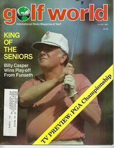 1983 7/29 Golf World magazine Billy Casper VG