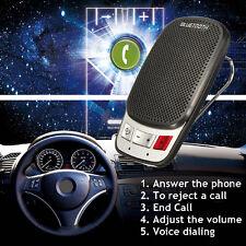 Wireless Bluetooth Handsfree Car Auto Set Speakerphone Speaker Phone Visor Clip