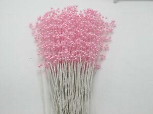 100 Bunch Pearl Flower Stem Beads Garland Sprays Bridal Bouquet Wedding Party