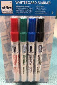 4 teiliges Whiteboard Marker Stifte Set für Magnettafel Glas Flipchart - NEU !!!