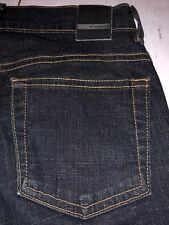 Bebe Women's Jeans Boot Cut Stretch Distressed Dark Blue Jeans Size 26 X 30