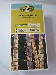 Hampton Bay Garden String Lights Incandescent mini bulbs Indoor/Outdoor 33 Ft