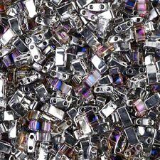 Miyuki Half Tila Beads 2-Hole Seed Beads 7.8GM Crystal Heliotrope MBHT-4554