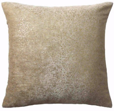 """GOLD GLITTERING SPARKLES GOLD THICK VELVET 18"""" CUSHION COMPLETE WITH PAD £11.99"""