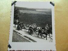 WWII Original German Photo Combat  Horse drawn ARTY