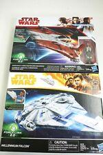 Hasbro Star Wars Resistance A-Wing Fighter w/ pilot & Millennium Falcon