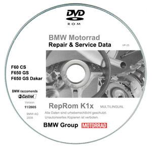 Bmw F650 CS - GS - Dakar - R - S (2000-2007)  manuali di riparazione su dvd