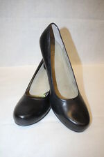 """NWT SALAMANDER Black Leather """"Court Shoes"""" /Heels, Womens Size 6, Germany"""