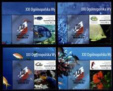 Fische. Korallenfische. 8W+8Zf+Eckrand(4). Polen 2014