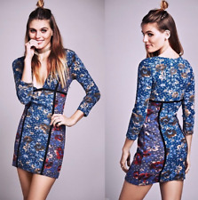 Free People Cote d'Azure Special Edition Mini Bodycon Dress Blue Plunging $250 6