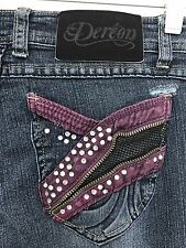 Dereon Size 5 / 6 X 33 Unique And Eye-Catching Blue Jeans