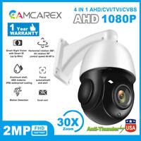 4in1 30X Zoom AHD/TVI /CVI/CVBS 2MP Outdoor CCTV PTZ Speed Dome Camera CMOS