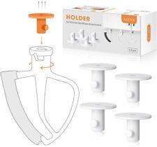 4 Pack Storage Organizer for Kitchenaid Mixer Attachments,Dough Hooks,Wire Whip